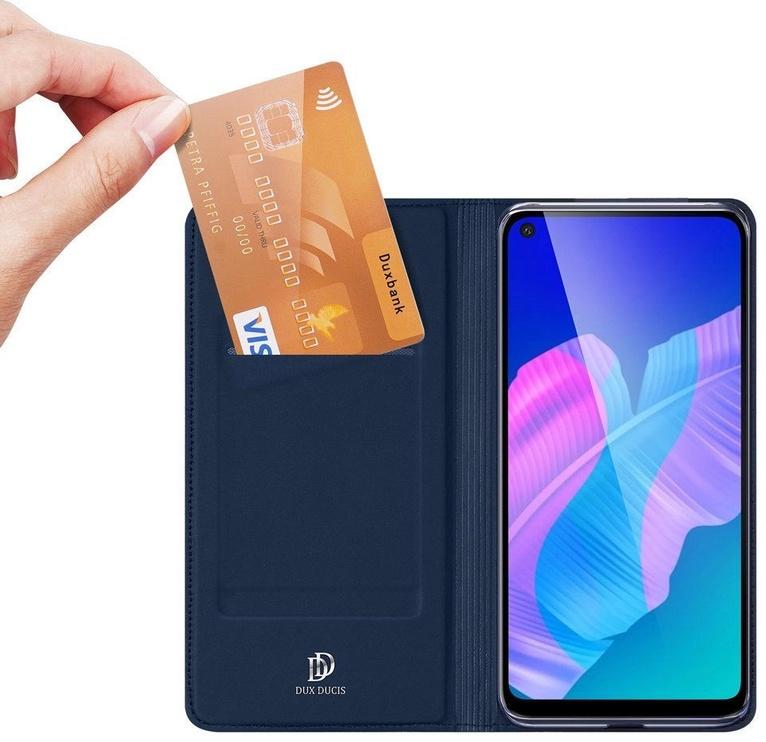 Dux Ducis Skin Pro Bookcase For Huawei P40 Lite E Blue
