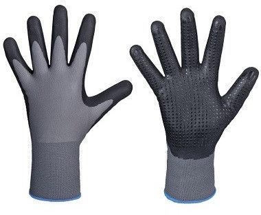 Darba cimdi DD Nylon-Polyester Gloves With Dotted Nitrile Palm 10