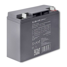 Qoltec AGM Battery 12V 17Ah Max 255A