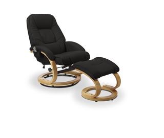 Atzveltnes krēsls Halmar Matador Black, 76x71x103 cm
