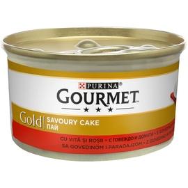 Влажный корм для кошек (консервы) Purina Gourmet Gold Savoury Cake with Beef and Tomatoes 85g