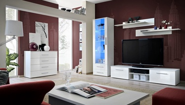 Dzīvojamās istabas mēbeļu komplekts ASM Galino B White/White Gloss
