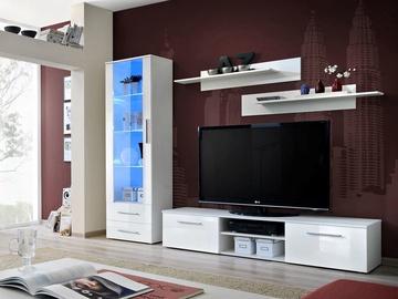 Dzīvojamās istabas mēbeļu komplekts ASM Galino A White Gloss