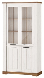 Шкаф-витрина Szynaka Meble Country 12 White, 104x45x204 см