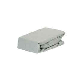 Простыня Domoletti, серый, 160x200 см, на резинке