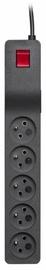 Sprieguma stabilizatori (Surge Protector) Lestar Surge Protector 5 Outlet Black 3m