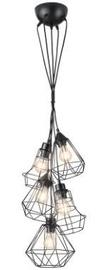 Gaismeklis Trio Meike Pendant Lamp 5xE27 Black