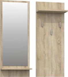 Top E Shop Riva Coat Hanger Sonoma Oak