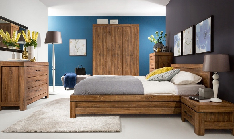 Guļamistabas mēbeļu komplekts Black Red White Gent