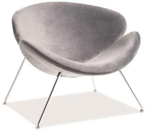 Atzveltnes krēsls Signal Meble Major Gray/Chrome, 84x49x72 cm