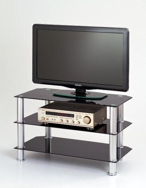 TV galds Halmar RTV-21 Glass/Black, 800x400x500 mm