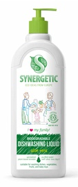 Средство для мытья посуды SYNERGETIC с ароматом алоэ, 1 л