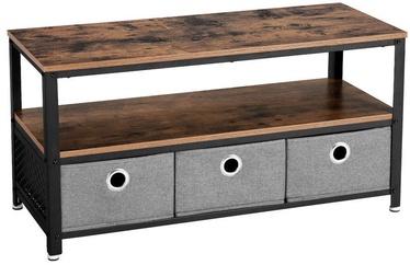 ТВ стол Songmics, коричневый/черный, 1000x400x520 мм