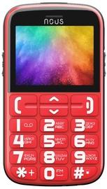 Мобильный телефон Nous NS2422 Helper, красный, 24MB/32MB