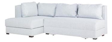Stūra dīvāns Bodzio Judyta Noble Grey, kreisais, 225 x 155 x 77 cm