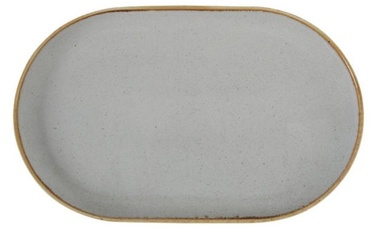 Porland Seasons Oval Plate 20x32cm Grey