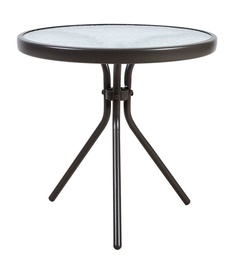 Садовый стол Home4you Dublin 11929, коричневый, 50 x 50 x 46 см