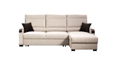 Stūra dīvāns Libro Kronos Cappuccino, 240 x 165 x 88 cm