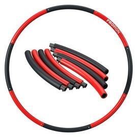 Vingrošanas loks ProIron Hula Hoop Ring 73-98cm Black/Red