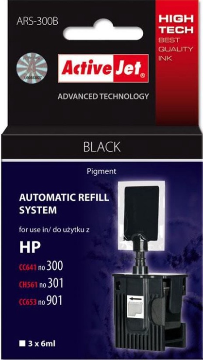 ActiveJet Cartridge ARS-300B For HP 18ml Black