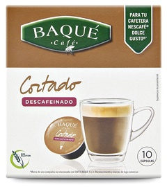Kafijas kapsulas Cafe Baque Decaffeinated, 0.07 kg, 10 gab.