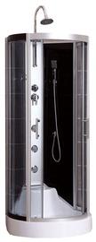 Dušas kabīne Vento Monza, masāžas, pusapaļā, bez paliktņa, 900x900x2300 mm