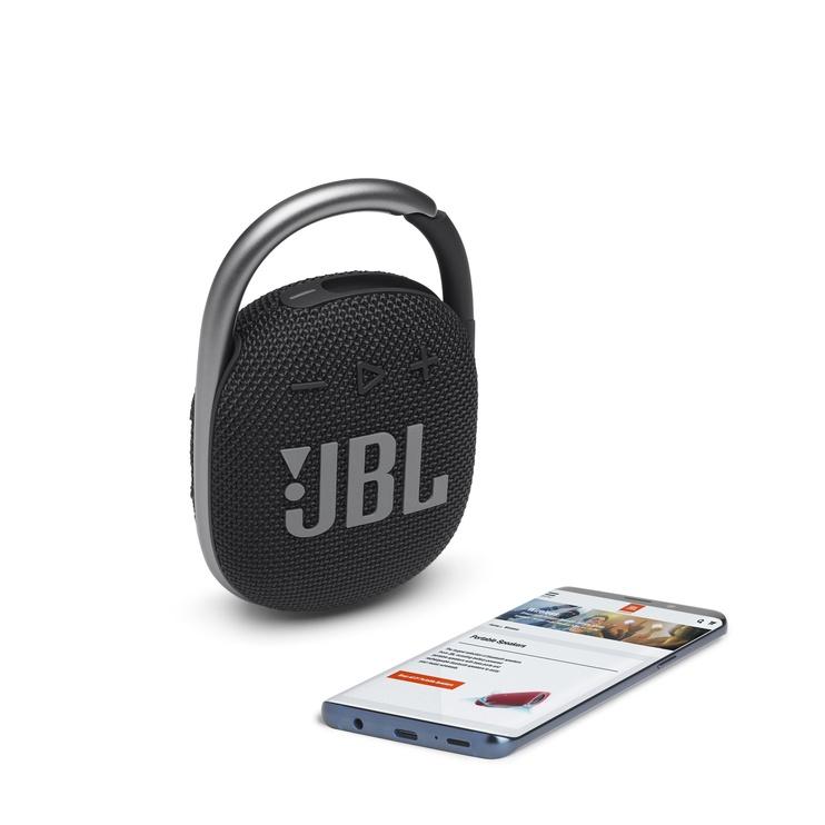 Bezvadu skaļrunis JBL JBL CLIP4 Black, melna, 5 W