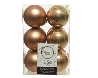 Ziemassvētku eglītes rotaļlieta 021835 Brown, 60 mm, 12 gab.