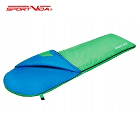 Guļammaiss SportVida Ultralight 3D Microfiber, zila/zaļa, labais, 210 cm