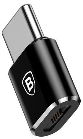 Baseus Mini Universal Adapter Micro USB To USB Type-C Black