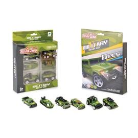 SN Six-Six_Zero Military Alloy Cars 6pcs