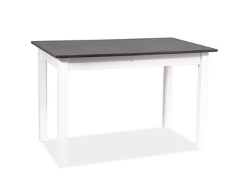 Signal Meble Horacy Extendable Table 100/140cm Anthracite/White