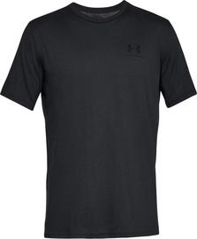Under Armour Mens Sportstyle Left Chest SS Shirt 1326799-001 Black L
