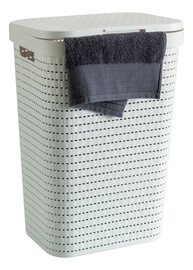 Rotho Country Laundry Bin 55L White