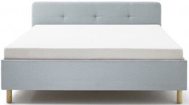 Кровать Meise Möbel Amelie Wooden Oak Base, голубой, 200x180 см