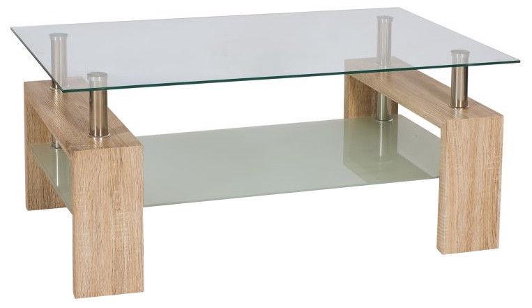 Kafijas galdiņš Signal Meble Lisa II Oak San Remo, 1100x600x550 mm