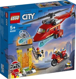 Constructor LEGO City Fire Rescue Helicopter 60281