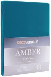 DecoKing Amber Bedsheet 140-160x200 Blue Sapphire