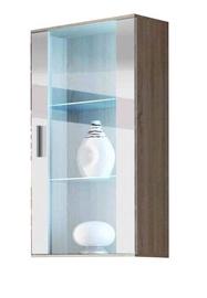 Шкаф-витрина Cama Meble Soho 2, белый/дубовый, 60x29x115 см