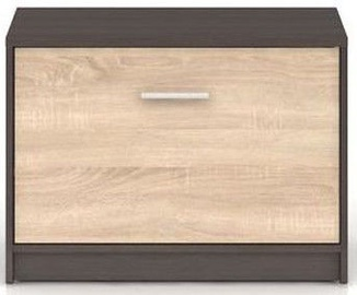 Apavu plaukts Black Red White Nepo Plus Wenge/Sonoma Oak, 700x340x500 mm