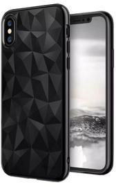 Blun 3D Prism Shape Back Case For Apple iPhone X Black