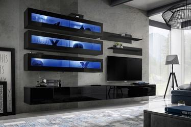 Dzīvojamās istabas mēbeļu komplekts ASM Fly J2 Black