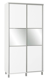 Skapis Bodzio SZP120W White, 120x60x240 cm, with mirror