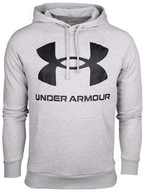 Under Armour Rival Fleece Big Logo Hoodie 1357093-011 Grey L