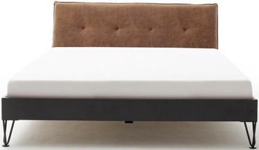 Кровать Meise Möbel Boston-3 Spoke Metal Foot Cognac, 200x180 см