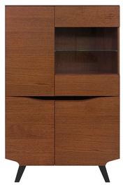 Шкаф-витрина Black Red White Madison REG3D1W, коричневый/дубовый, 95x42x150 см