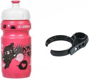 Zefal Little Z Ninja Girl Bottle & Universal Clip Holder Pink 350ml