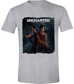Licenced Uncharted The Lost Legacy Cover T-Shirt Grey S