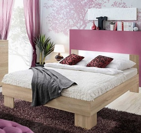 ASM Vicky Bed 180 Sonoma Oak/White