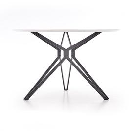 Pusdienu galds Halmar Pixel, balta/melna, 1200x1200x760mm